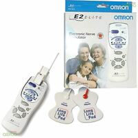 Omron E2 Elite Electronic Nerve Stimulator Pain Relief Massager TENS Machine New