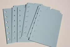 9 Shimmery light Blue  Filofax POCKET size  dividers monthly subject top tab