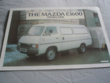 Mazda E1600 Panel Van range brochure 1982