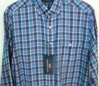 VINEYARD VINES NEW Shirt Slim Fit  Multi Color Plaid Button Down Cotton Linen M