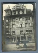 Suisse, Lucerne Vintage silver print. Vintage Switzerland  Tirage argentique d