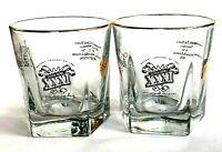 Vtg Set 2 1997 Jack Daniels Super Bowl XXXI Glasses Bar Packers Football NFL