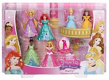 NEW Disney Princess Little Kingdom MagiClip 6-Pack Doll Figures Fashion