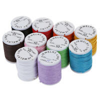 10X Rotolo filo di cotone collana 0,9 mmGioielli fai da te colorato F8X7