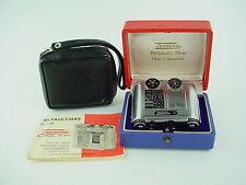Tessina 35mm Half Frame Subminiature Camera w/ Manual box & Case - Rare