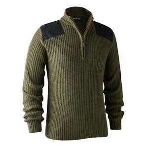 Deerhunter Rogaland Knit Jumper Pullover Adventure Green Hunting Shooting