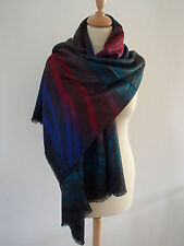 Etole écharpe foulard châle 100% pashmina zébrée multicolore neuf ladydjou