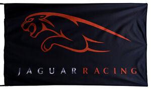 JAGUAR-FLAG RACING BLACK BANNER LANDSCAPE 5 X 3 FT 150 X 90 CM