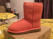❤️New Genuine Short UGGS Australia Uk Size 6 / 6.5 Pink Boots❤️