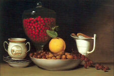 Oil painting Peale, Mary Jane - Still Life Strawberries & Nuts free shipping art