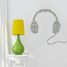 Wall Decal Vinyl Sticker Headphones Music Notes Beats Audio Cord Relax (Z2671)