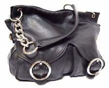OROTON Leather Handbag Jackie pebble grain Shoulder Bag Chain Tote EUC rrp$595