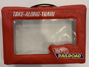 Vintage 1984 Mattel Hot Wheels Engine Take-Along-Train Carry Case