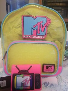 NEW WITH TAGS! Loungefly MTV Mini Backpack And Wallet