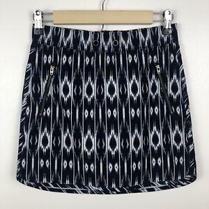 Athleta Women's Skirt Size XXS Reflection Stretch-In Skort Blue White Active