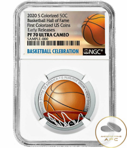 2020 S Basketball Hall of Fame Early Release Colorized PF70 Ultra Cameo Half Dol