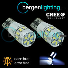 2x W5W T10 501 can bus blanco libre de errores 18 Smd LED Bombillas De Matrícula