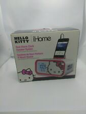 Hello Kitty iHome  Dual alarm clock and speaker system for MP3 and smartphone