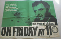 ENGLAND, Filmplakat,Plakat,ON FRIDAY AT 11 ,ROD STEIGER,NADJA TILLER #156