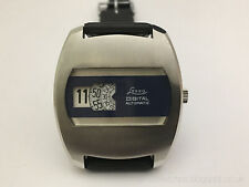 Vintage Retro Awesome German Lessa Jump Hour Automatic Watch NOS fully serviced