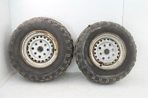 1988 Honda Fourtrax 300 4x4 Front Wheels Rim Tire
