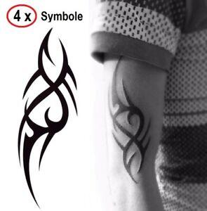 Tribal Einmal Tattoos Temporary Tattoo 2x Body Sticker Temporäre Tattoo 19x12cm