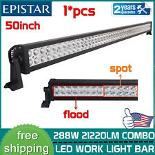 288W 50''Inch Led Light Bar Spot Flood Combo Work Driving Offroad Lamp 50/52''