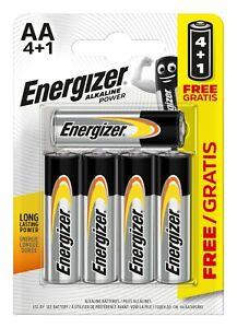 Energizer 5 Pack of AA LR6 Long Lasting Power Alkaline Batteries Battery Pack