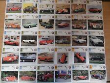 33 x Alfa Romeo - Collectors Club Classic Car Cards Job Lot