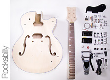 NEW DIY Electric Guitar Kit – Hollow Body Build Your Own Guitar Kit – Rockabilly