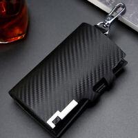 Men Women Leather Key Wallet Car Key Bag Multifunction Case Key Holders Keychain