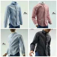 1/6 Trend Soldier Blue Powder Four-Color Striped Shirt Top Clothes F12'' Body
