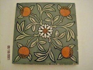 Reclaimed Antique Arts & Crafts William Morris Style Minton Tile.