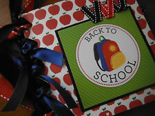Back to School Premade Paperbag Scrapbook Pages 4 Teacher Student