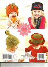 Cute & Cozy Caps Crochet Patterns Baby Childs Hats Sunflower Beehive Squash A29