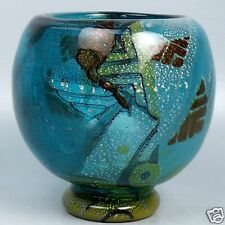 Large Muller Freres Luneville Art Deco Intercalaire Art Glass Vase - GL