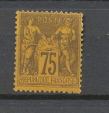 FRANCE N°99 75c violet s.orange N* signé CALVES Cote 350€ TB P2247