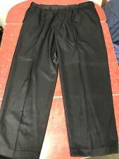 Edwards Men's Black Dress Pants Trousers 44 X 30 100% Polyester Excellent