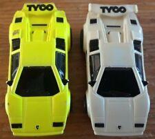 TYCO HO LAMBORGHINI slot cars - Slot Car lot - Vintage White, Yellow pair