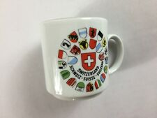 Switzerland Mug VTG Small Cup Collectible Tea West Germany Made Eveesbeeg Swiss