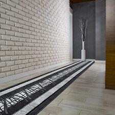 Hochwertig Modern Teppichläufer Küchenmatte Teppich Läufer Dunkelgrau - 5118