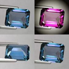IF 9+cts Huge Emerald(14x10mm)Lab Corundum Color Change Alexandrite Loose Stone