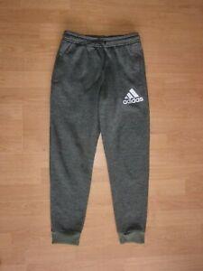 Adidas Climawarm Dark Green 'chintz' boys jogging bottoms age 11-12 years