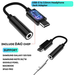 For Samsung S21/S20 FE/Note20 Ultra USB C To 3.5mm Headphone Jack Adapter Cable
