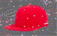 New CONVERSE Deconstructed Mens Red Strapback Hat Cap fa72be5cb278