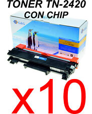 10 X Brother Toner Tn2420 Generico con chip 3.000 pag. marca G&G calidad Premium