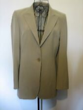 A LOVELY STYLISH  LIGHT BROWN PER UNA  JACKET SIZE 12 BUTTON FASTENER