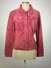 Suede Jean Jacket M Pink/Mauve/Raspberry Color