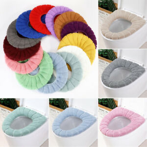 HOT Bathroom Toilet Seat Cover Cushion Closestool Soft Knitted Warm Pad Mat Home