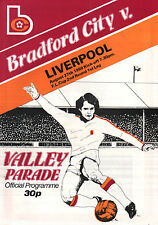 1980/81 Bradford City v Liverpool, League Cup, PERFECT CONDITION